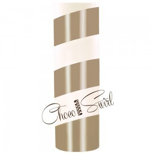 ChocoSwirl Cylinder - Hazelnut and White