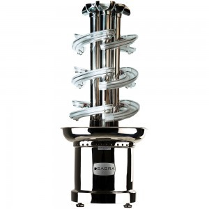 Trifecta Clear Triple Chocolate Fountain - 46''