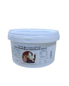 Vegan Pourable Milk Chocolate Flavored Sauce - 7.5 lbs.